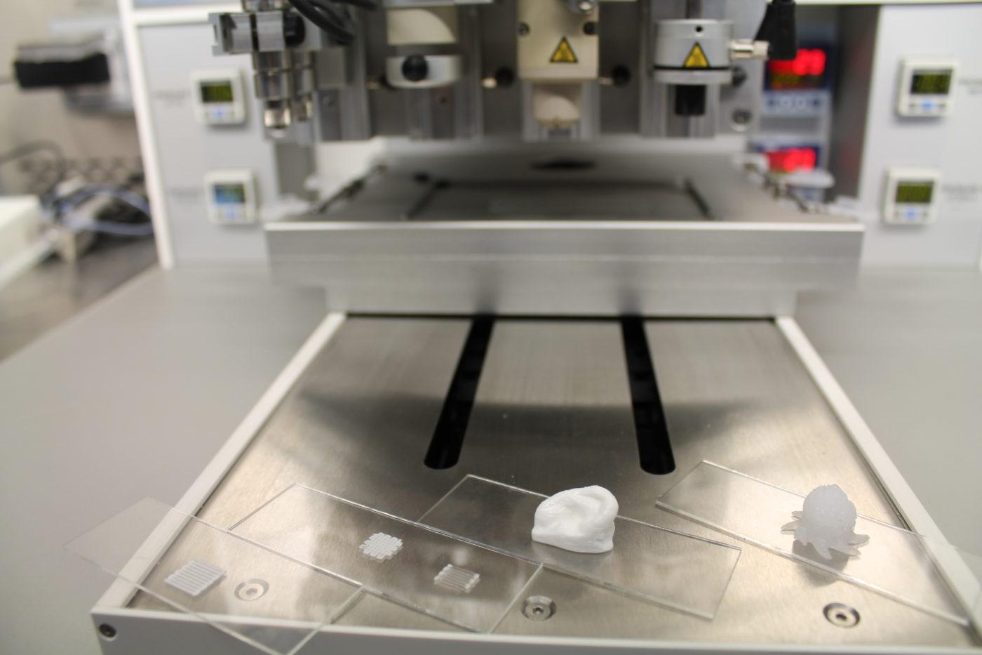 Primele teste si obiecte printate cu ajutorul bioprinter-ului